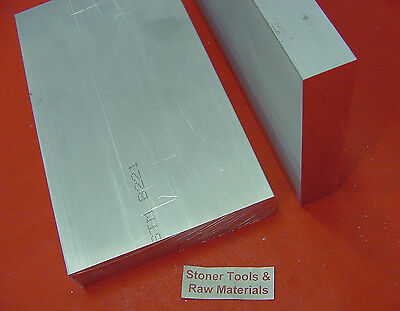 """2 Pieces 1-1/2"""" X 5"""" ALUMINUM 6061 FLAT BAR 8"""" long Solid T6511 Plate Mill Stock"""