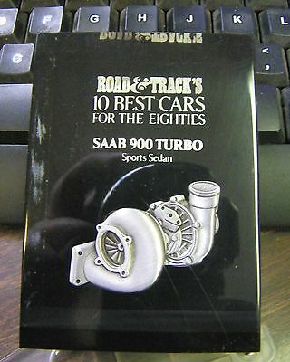 "SAAB 900 TURBO sports sedan * 3D paperweight? Road & Track 10 BEST CARS for 80""s"