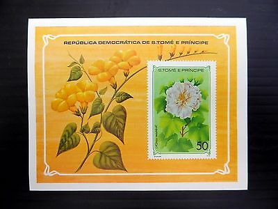 St THOMAS & PRINCE ISLANDS Wholesale 1979 Flowers M/Sheet x50 NB827