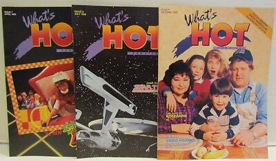 General Foods What's Hot Magazine,3 issues,1989 Roseanne, Star Trek, Double Dare