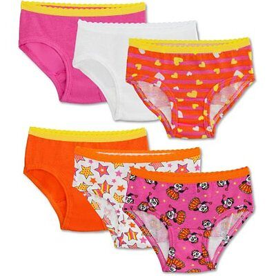 Fruit of the Loom Toddler Girls Colorful Hipsters 6pr Underwear 4T/5T