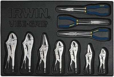 "Irwin 11"" 10 Piece Locking and Long Reach Plier Set 1837248"