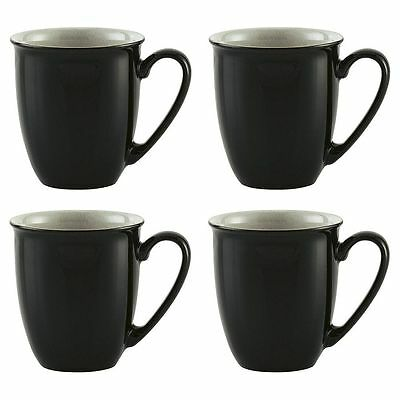 NEW Denby Everyday Set of 4 Mugs - Black Pepper