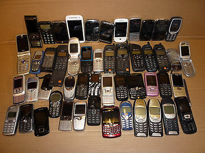 Job Lot 50 Mobile Phones Sony Htc Motorola Blackberry Philips Nokia Samsung