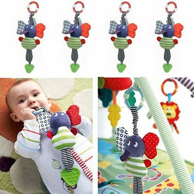 Infant Baby Hanging Toy Bed Dolls Plush Elephant Teethers