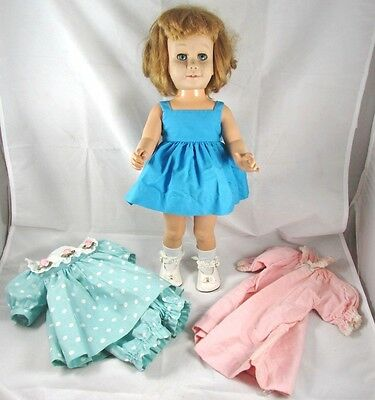 Chatty Cathy Doll Soft Face Covered Box Early Issue Mattel 1960s Clothes Shoes