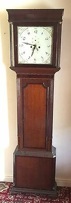 Antique Oak & Mahogany inlaid Longcase Grandfather Clock C Johnson CONGLETON