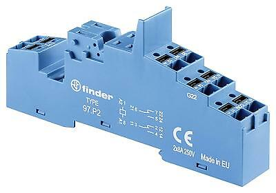 RELAY SOCKET DIN RAIL/PANEL 8PIN QC - 97P2SPA (Fnl)