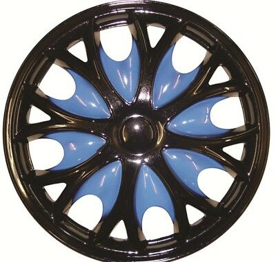Ford Transit Connect 15 Inch Black Blue Wheel Trims (2013-2016)
