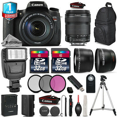 Canon EOS Rebel T6s Camera + 18-135mm IS STM + Flash  + Filters + 1yr Warranty