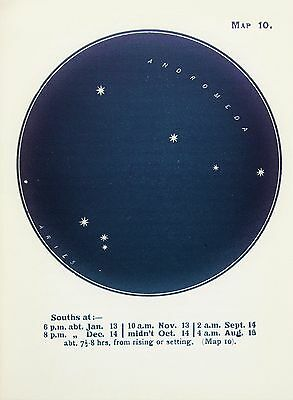 Antique Print Star Chart - Constellations - Celestial - Astrology - Astronomy 10