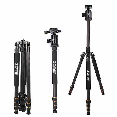 Z688C Pro Portable Travel Carbon Fiber Tripod Monopod Stand For Camera DSLR