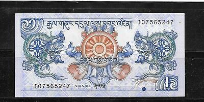 Bhutan #27 2006 Mint Unc Ngultrum Banknote Bill Note Currency Money