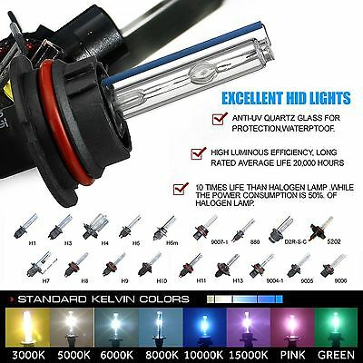 Two 35W 55W Xenon Light HID Kit 's Replacement Bulbs H1 H3 H7 H10 H11 9006 9012