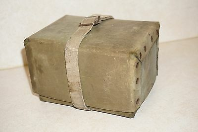 Hard to find vintage Faber salesman sample trunk Olive Green Utica New York