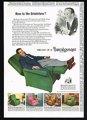 1954 Barcalounger Chair Model W260 S-1 505 520 270 S-1 Vintage Print Ad