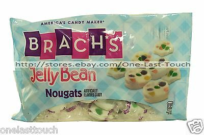 BRACH'S 4.5 oz Bag JELLY BEAN NOUGATS Candy/Candies EASTER New! Exp. 10/17