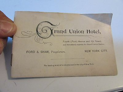 Vintage Early 1900s Grand Union Hotel New York City Advertising Booklet