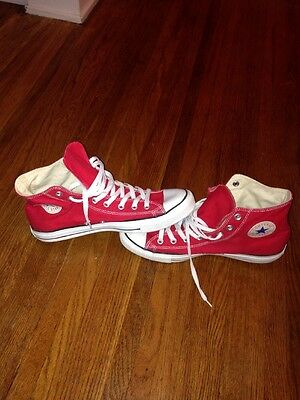 Converse All Star Chuck Taylor Red (M9621) Hi Top Sneakers Womens 13 Men's 11