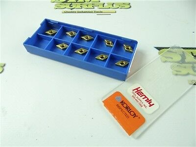 New 9Pc Lot Of Korloy Solid Carbide Turning Inserts Dcmt070204-C25