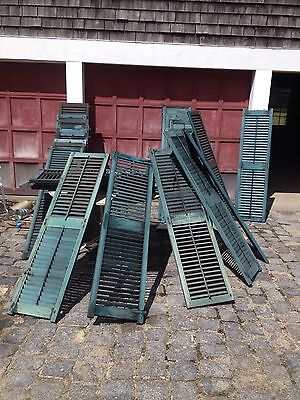Pair of Antique Window louvered Shutters