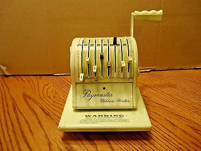 Vintage Paymaster Ribbon Writer Series 8000..WORKS