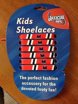 Afl Kids Shoe Laces Pack Of 2...bulldogs, Demons,and Tigers Brand New