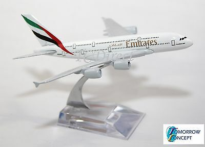 14cm 1:450 EMIRATES A380 Airplane Aeroplane Diecast Metal Plane Toy Model