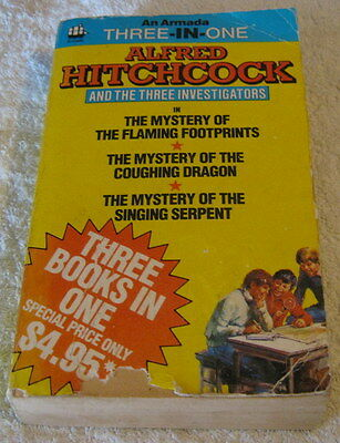 The 3 Three Investigators 3 in 1 Flaming Footprints Coughing Dragon Singing Serp