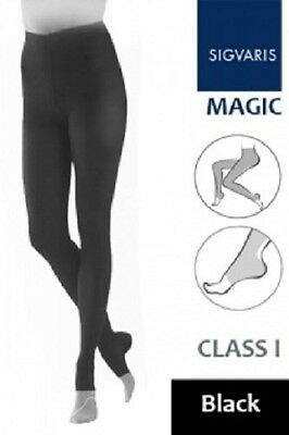 Sigvaris Magic Mg1 Ladies Compression Open Toe Tights Small Black Normal - New