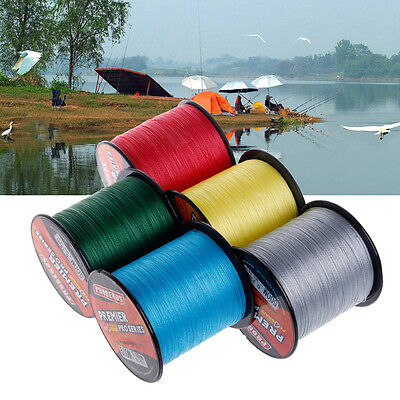 500M Super Strong PE Braided Fishing Line 4 Strands Monofilament Cord 6LB-100LB