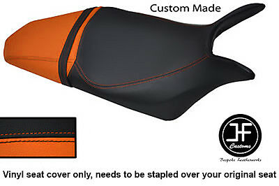 Black & Orange Vinyl Custom Fits Honda Hornet Cb 600 F 07-12 Seat Cover Only