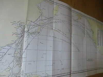 PACIFIC:EAST ASIA-AMERICA STEAM SHIP ROUTES:HYDROGRAPHIC OFFICE CHART C1930-40-s