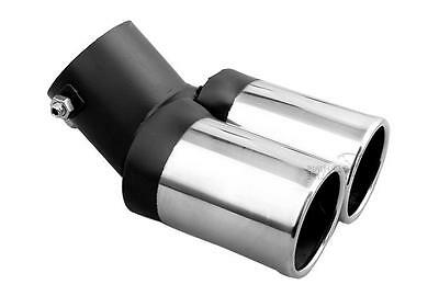 TWIN Chrome Exhaust Tail Pipe (30mm-59mm) Stainless Steel M17/5