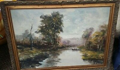 Vintage beautiful oil on board 31x24inches