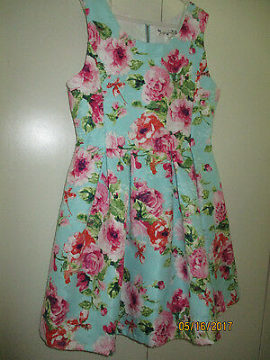 Knitworks Pink Girls Floral Dress Size 10, Spring,Summer,,Party,Vacation