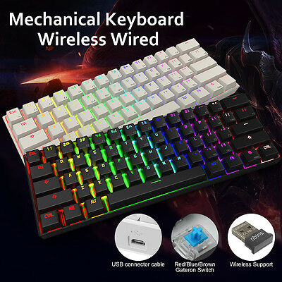Anne PRO Bluetooth Backlit Mechanical Gaming Keyboard Blue/Red/Brown RGB Switch