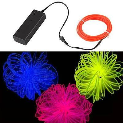 Red Neon Glow EL Light Wire Rope for Car Dance Party 3M