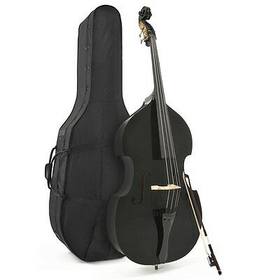 Student 3/4 Double Bass Black by Gear4music