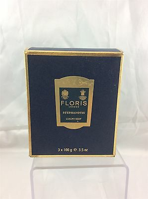 BNIB Floris of London Stephanotis Luxury Soap (Collection of 3 x 100g) New