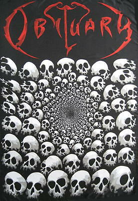 Obituary Flagge Fahne Posterflagge Pike Of Skulls