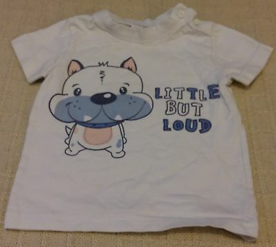 """""""M&Co"""" Baby Boys White Top 9-12 Months"""