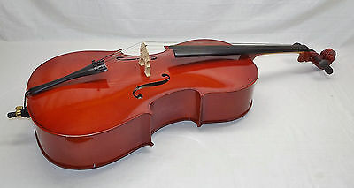 Gear4Music Student 4/4 Cello With Bow & Hard Case