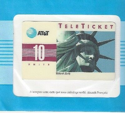 TK (8) AT&T 10u Statue of Liberty (Group 3 = 'FR' Over Barcode) French
