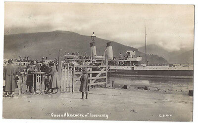 INVERARAY Queen Alexandra Steamer, and turnstile, RP Postcard Postally Used 1922