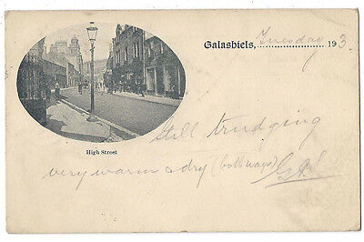 GALASHIELS High Street, Very Early Undivided Back Postcard Postally Used 1901