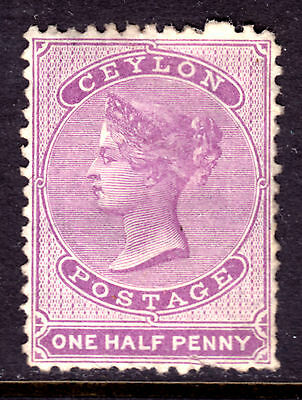 CEYLON #48 1/2p LILAC, 1863-67 Wmk.1a, VF, UNUSED