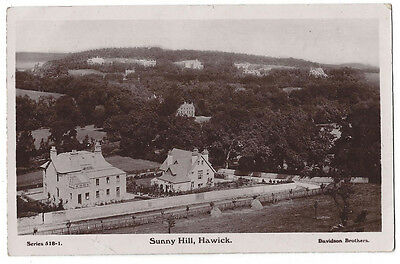 HAWICK Sunny Hill, RP Postcard by Davidson, RP Postcard Postally Used 1911