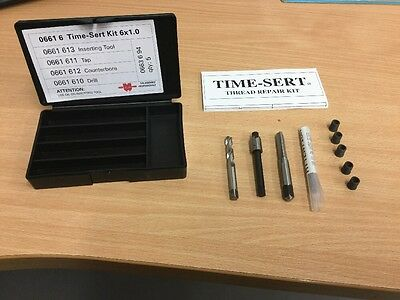 WURTH TIME SERT KIT M6x1.0x10mm THREAD REPAIR SYSTEM inc Tap Drill Tool Inserts