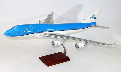 KLM Boeing 747-400 New Livery PH-BFT Desk Top Display 1/100 Model AM Airplane